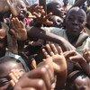 Refugiados de Burundi en la República Democrática del Congo. Foto: OCHA/Naomi Frerotte