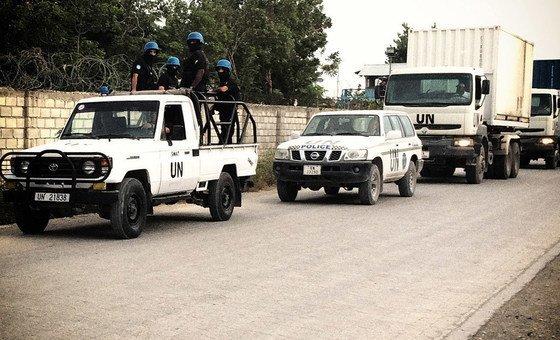 Миротворцы ООН в  Гаити сопровождают  перевозку важных материалов, необходимых для проведения выборов