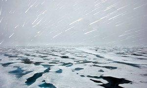 View of the Polar ice rim in 2009.