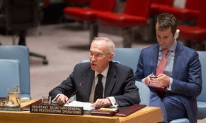Assistant Secretary-General for Peacekeeping Operations Edmond Mulet addresses the Security Council meeting on the situation in Somalia.