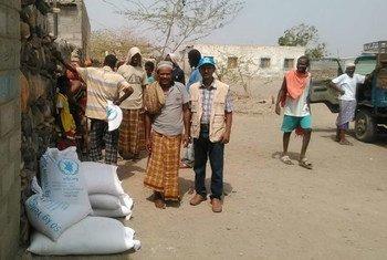 Распределение гуманитарной помощи в Йемене Фото УВКБ/Ф.Фаадак