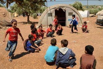 Los campamentos para desplazados en el norte de Siria ya no dan abasto en medio del recrudecimiento de la violencia. Foto: OCHA