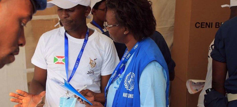Des observateurs de l'ONUlors du processus électoral au Burundi en 2015. Photo MENUB