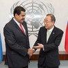 Nicolás Maduro y Ban Ki-moon durante la 70 Asamblea General de la ONU en septiembre. Foto de archivo: ONU/Eskinder Debebe