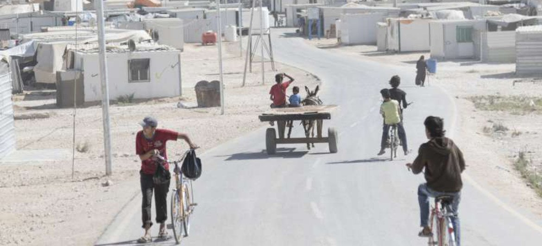 Campamento de refugiados sirios de Zaatari en Jordania, que alberga a mas de 80.000 personas Foto: ACNUR/ C. Herwig