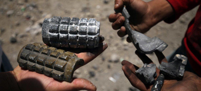 Restos de artillería en Yemen. Foto de archivo:  UNICEF/Mohamed Hamoud