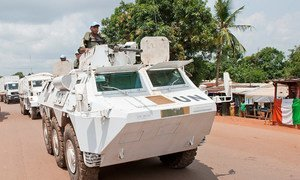 Peacekeepers serving with the UN Multidimensional Integrated Stabilization Mission in the Central African Republic (MINUSCA).