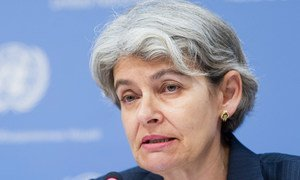La Directrice générale de l'Organisation des Nations Unies pour l'éducation, la science et la culture (UNESCO), Irina Bokova. Photo : ONU/Mark Garten