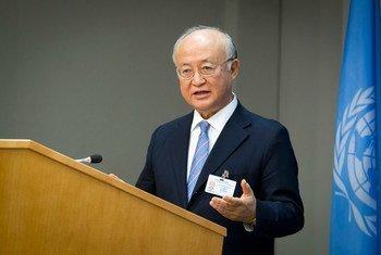 Director General del Organismo Internacional de Energía Atómica (OIEA), Yukiya Amano. Foto de archivo: ONU /Loey Felipe