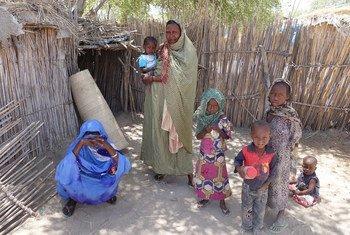 Desplazados internos en Baga Sola. Foto OCHA/Mayanne Munan