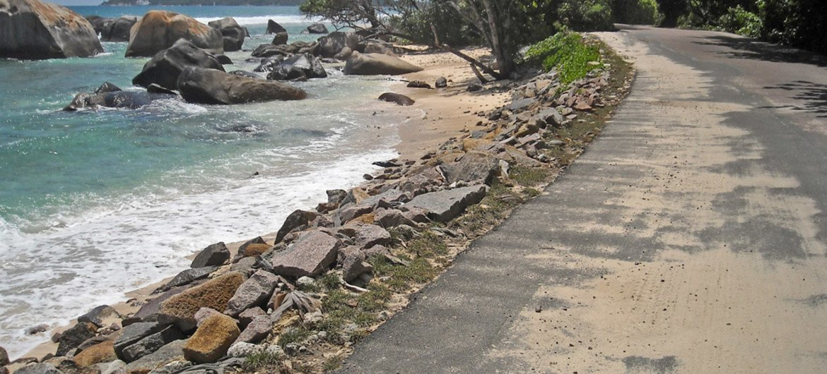 Climate change and sea level rise are shaping the Seychelles Islands in spectacular and dramatic ways.