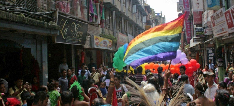 Desfile de la comunidad LGBT en Nepal. Foto de archivo:  Kyle Knight/IRIN