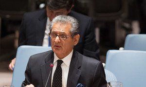 Le Représentant spécial pour le Libéria et chef de la Mission des Nations Unies dans le pays (MINUL), Farid Zarif. Photo : ONU/Loey Felipe