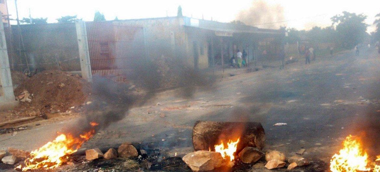 Насилие в  бурундийской столице Бужумбуре. Фото ИРИН