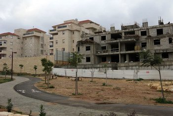 Construction in the Israeli settlement of Ariel in the West Bank. (file)