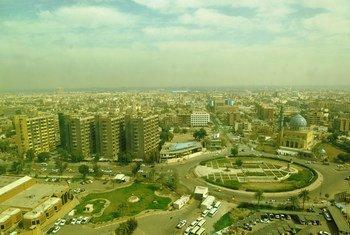 Vue aérienne de Bagdad, en Iraq. Photo MANUI