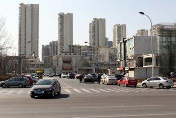 City landscape, Tianjin, China.