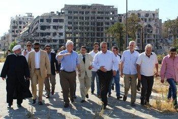 Заместитель Генерального секретаря ООН по гуманитарным вопросам Стивен ОБрайен посещает город Хомс в Сирии