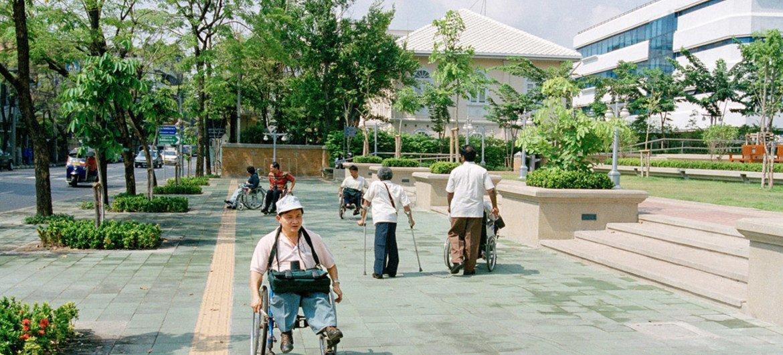 A Park in Bangkok, Thailand.