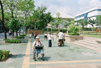 Una calle de Bangkok, Tailandia. Foto: ONU/Eskinder Debebe