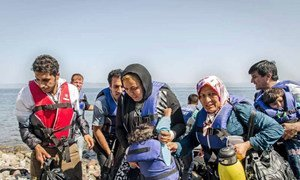 Dozens of refugees arrived in Greece by sea in July 2015, mainly from countries experiencing war and conflict.