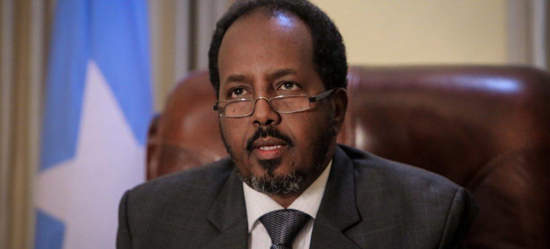 President Hassan Sheik Mohamud of Somalia. AU-UN IST Photo/Stuart Price
