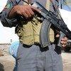 Un policier à Kaboul, en Afghanistan, qui reste l'un des pays les plus dangereux au monde.