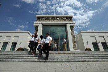 Courthouse in Azerbaijan.