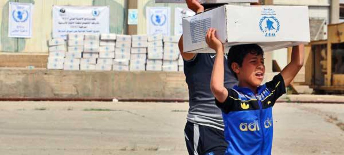 The humanitarian situation continues to deteriorate in Iraq and WFP provided food assistance through rations or vouchers to more than 1.5 million internally displaced people in July 2015.