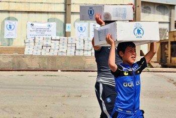 Conflitos, como o que afetou o Iraque, são a principal causa da necessidade de ajuda alimentar.