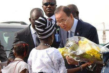 Пан Ги Мун  в Нигерии