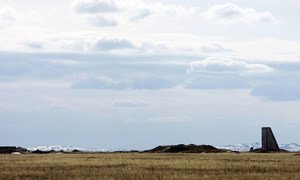 A view of Semipalatinsk Test Site's ground zero in Kurchatov, Kazakhstan. The remote area was once the former Soviet Union's primary testing venue for nuclear weapons. (file)
