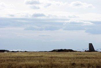 L'ancien site d'essais nucléaires de Semipalatinsk, au Kazakhstan. Photo ONU/Eskinder Debebe