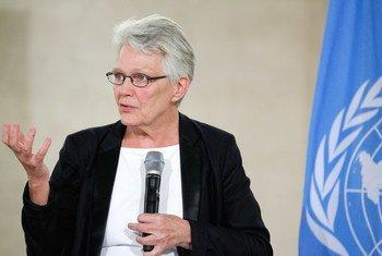 联合国国际减灾战略秘书处负责人瓦尔斯特伦资料图片。联合国图片/Pierre Albouy