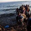 Un grupo de afganos llega a la isla de Lesbos, en Grecia. Foto de archivo: ACNUR/A. McConnell