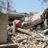 Destrucción en Yemen a causa de los bombardeos. Foto de archivo: OCHA/P. Kropf