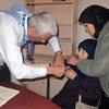 UNRWA medical personnel providing vital healthcare to civilians at a mobile health point in Yalda, Syria. (file photo)
