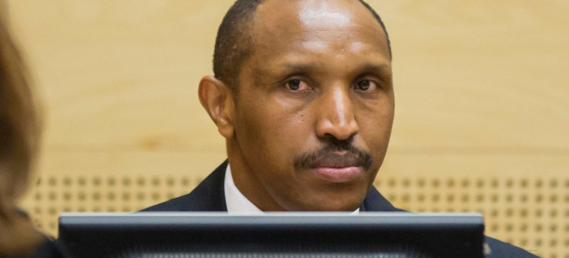 Bosco Ntaganda at the opening of his trial at the International Criminal Court (ICC) in The Hague, Netherlands, on 2 September 2015.