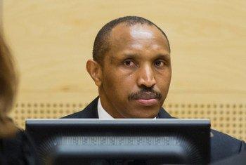 Bosco Ntaganda lors de l'ouverture de son procès devant la Cour pénale internationale (CPI) à La Haye, aux Pays-Bas, le 2 septembre 2015.