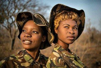 Membres de l'Unité anti-braconnage de 'Black Mamba', un groupe de rangers sud-africains à majorité composé de femmes.