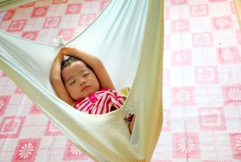 Un bebé del grupo indigena Kadazandusun, en Malasia  Foto UNICEF/Giacomo Pirozzi
