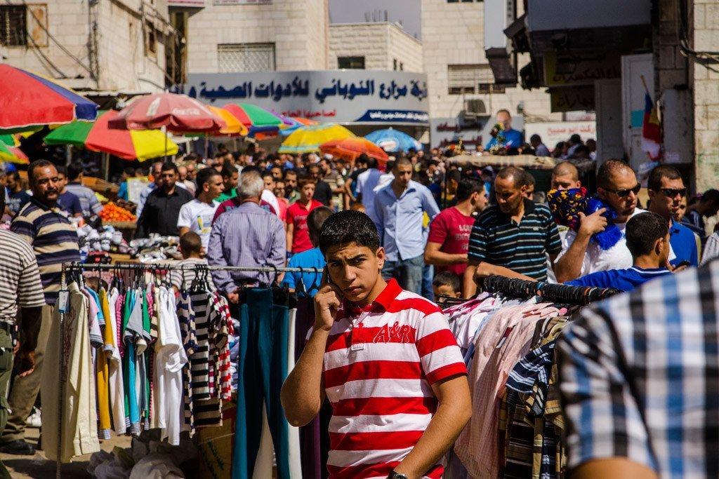 Un marché dans la ville de Ramallah en Cisjordanie.