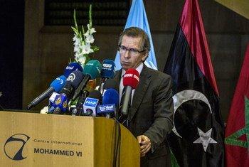 联合国秘书长利比亚问题特别代表莱昂。联合国驻利比亚支助特派团图片