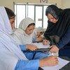 La profesora afgana Aqeela Asifi, ganadora del premio Nansen de ACNUR  Foto:ACNUR/Sebastian Rich