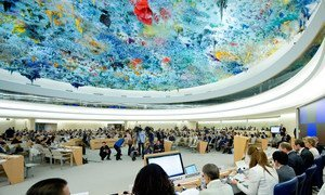 Wide view of the Human Rights Council.