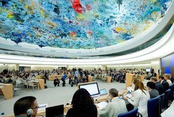 位于日内瓦的人权理事会会议厅。联合国图片/Jean-Marc Ferré