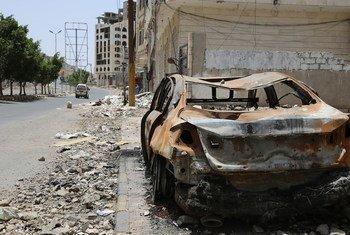 Le quartier de Faj Attan à Sana'a, au Yémen, est régulièrement frappé par des attaques aériennes. Photo OCHA/Charlotte Cans