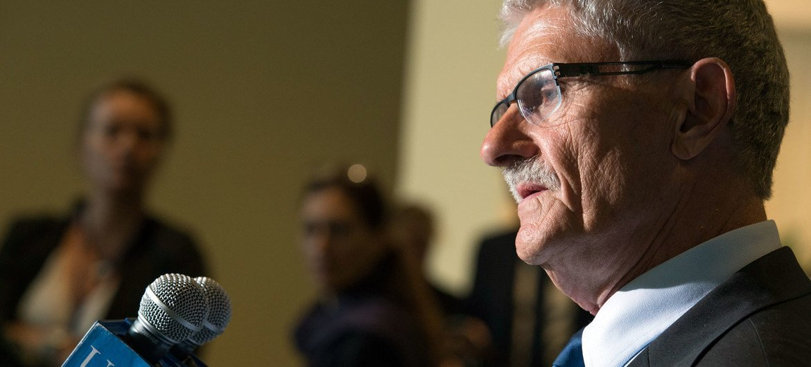 Press Encounter by Mogens Lykketoft of Denmark following his formal election as President of the seventieth session of the General Assembly.