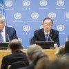 Conferencia de prensa del Secretario General Ban Ki-moon. Foto: ONU/Mark Garten