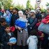 入境匈牙利的难民。难民署图片/ Mark Henley